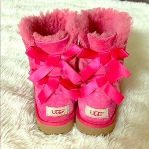 UGG Pink Bailey Boots Girls' Size 1